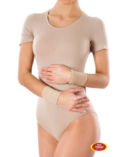 Pani Teresa Opaska elastyczna na nadgarstek bezszwowa rozmiar S beżowa 2 sztuki  whited-out
