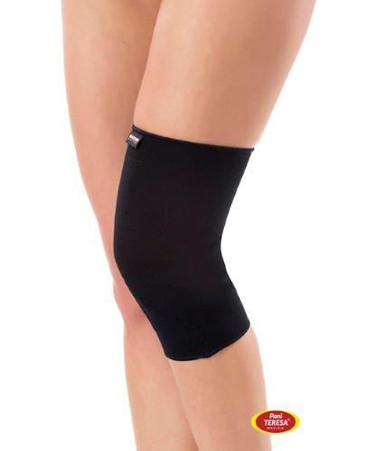 Pani Teresa Opaska elastyczna stawu kolanowego bezszwowa rozmiar M czarna 1 sztuka  whited-out