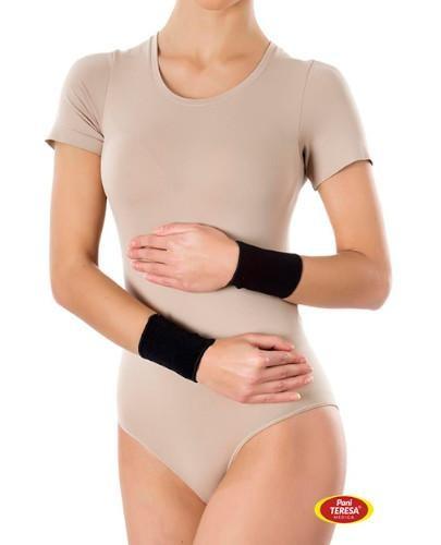 Pani Teresa Opaska elastyczna na nadgarstek bezszwowa rozmiar S czarna 2 sztuki