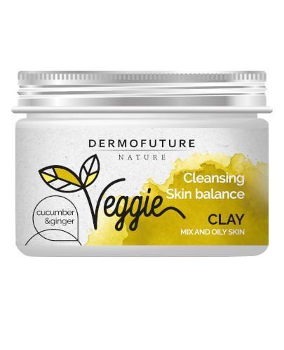 DermoFuture Veggie glinka oczyszczająca Ogórek & Imbir 150 ml