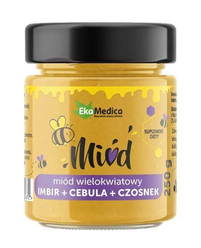 EkaMedica miód wielokwiatowy z imbirem, cebulą i czosnkiem 250 g