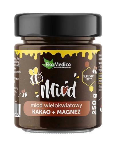 EkaMedica miód wielokwiatowy z kakao i magnezem 250 g
