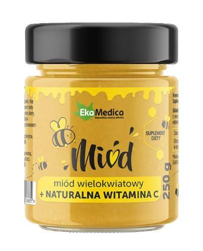EkaMedica miód wielokwiatowy z naturalną witaminą C 250 g