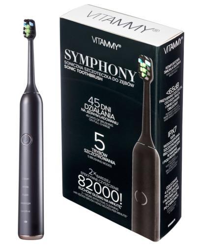 Vitammy Symphony szczoteczka soniczna do zębów czarna 1 sztuka