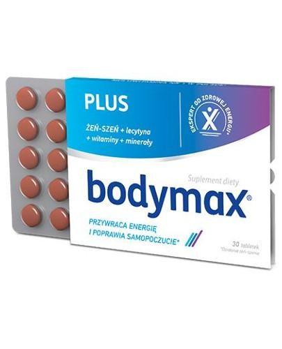 Bodymax Plus żeń-szeń + lecytyna + witaminy + minerały 30 tabletek