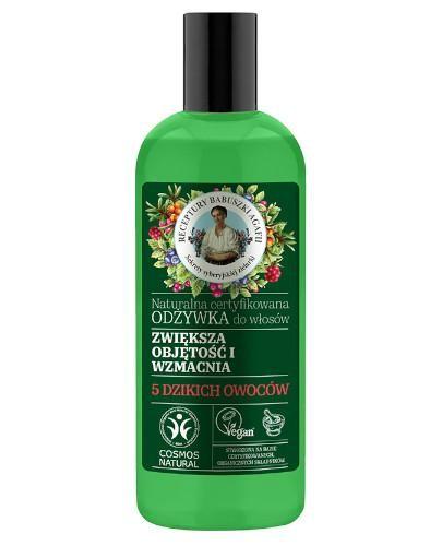 Babuszka Agafia Naturalna certyfikowana odżywka do włosów wzmacniająca i zwiększając...
