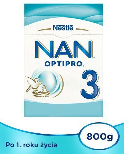 NESTLE NAN OPTIPRO 3 Mleko modyfikowane w proszku dla dzieci po 1 roku 2x 800 g [DWUPA...