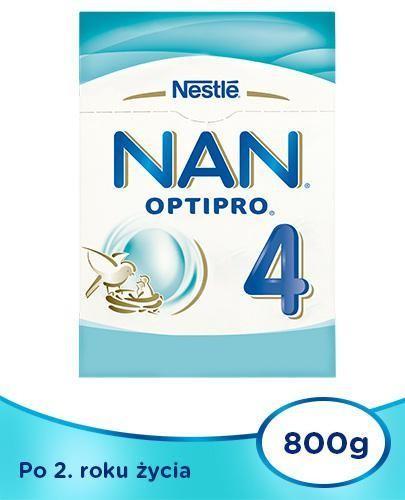 NESTLE NAN OPTIPRO 4 Mleko modyfikowane dla dzieci po 2 roku życia 2x 800 g [DWUPAK] + Sk...