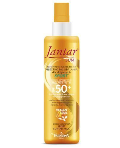 Farmona Jantar Sun bursztynowe wodoodporne mleczko do opalania SPORT SPF 50+ 200 ml