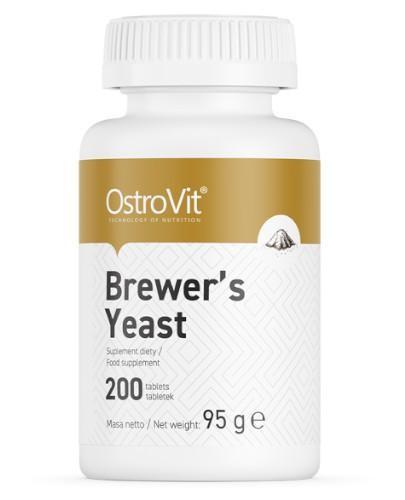 OstroVit Brewers Yeast (drożdże piwne) 200 tabletek  whited-out