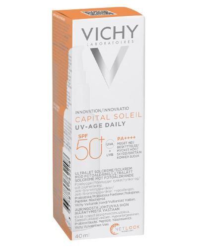 Vichy Capital Soleil UV-AGE Daily Fluid przeciw fotostarzeniu się skóry SPF 50+ 40 ml