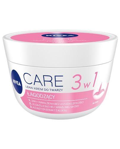 Nivea Care 3w1 lekki krem do twarzy łagodzący 100 ml