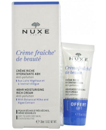 Nuxe Creme Fraiche de Beaute Creme Riche krem nawilżający o bogatej konsystencji 30 m...