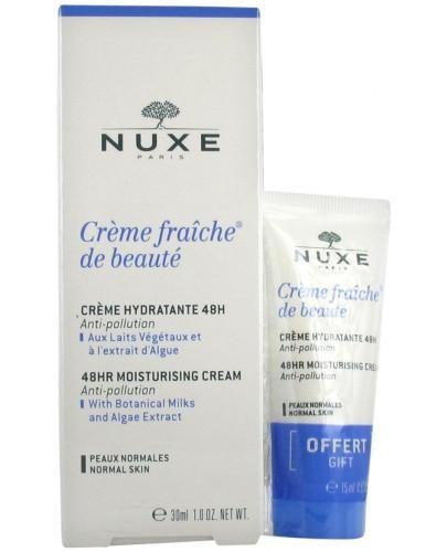 Nuxe Creme Fraiche de Beaute krem nawilżający do skóry normalnej 30 ml + 15 ml