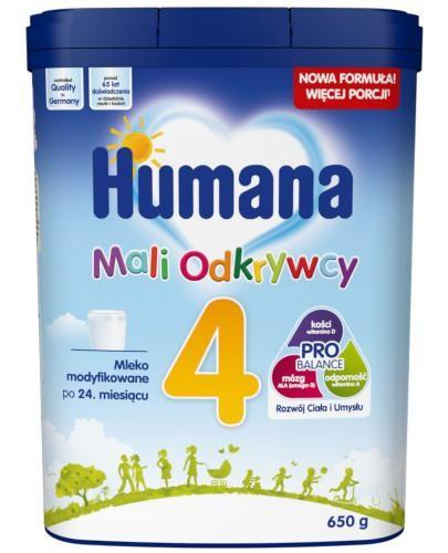 Humana 4 Mali Odkrywcy mleko w proszku po 24 miesiącu 650 g