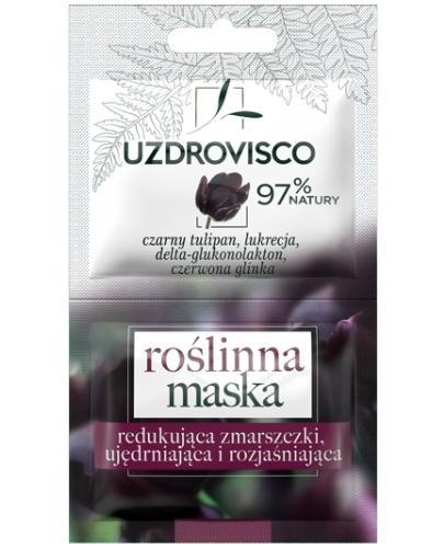 UzdroVisco Czarny Tulipan Roślinna maska redukująca zmarszczki ujędrniająca i rozjaśn...