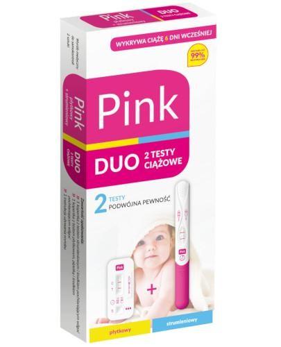 Domowe Laboratorium Pink Duo test ciążowy płytkowy + strumieniowy 2 sztuki