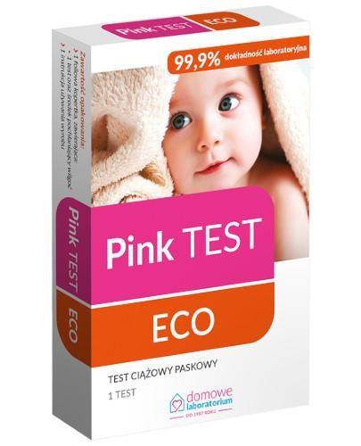 Domowe Laboratorium Pink Test Eco test ciążowy paskowy 1 sztuka