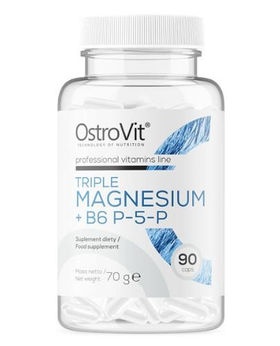 OstroVit Triple Magnesium + B6 P-5-P 90 kapsułek