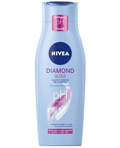 Nivea Diamond Gloss łagodny szampon z diamentowym pyłem 400 ml