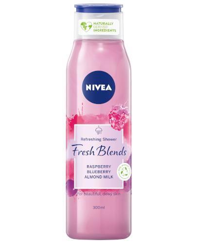 Nivea Fresh Blends żel pod prysznic malina i borówka z mlekiem migdałowym 300 ml