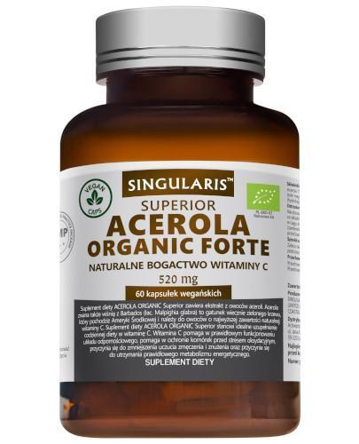Singularis Superior Acerola Organic Forte 520 mg 60 kapsułek