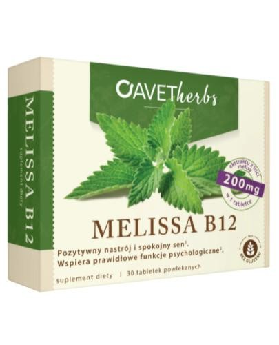 Avet Herbs Melissa B12 30 tabletek powlekanych