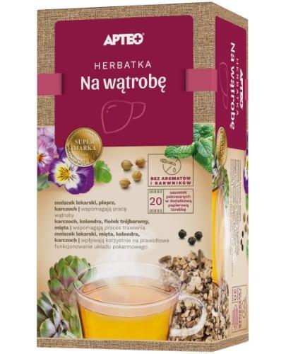Apteo Herbatka na wątrobę 20 saszetek