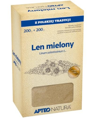 Apteo Natura Len mielony 200 g + 200 g