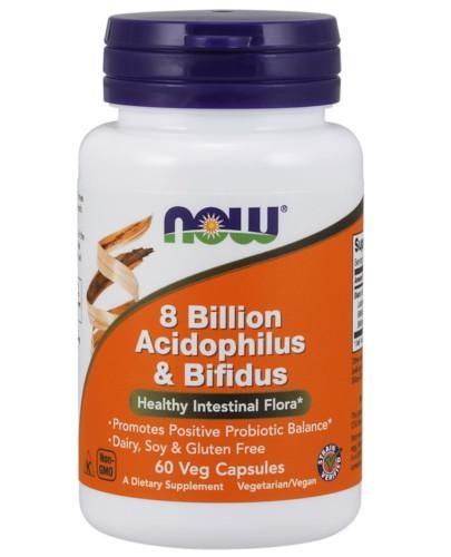 NOW Foods 8 Billion Acidophilus & Bifidus 60 kapsułek