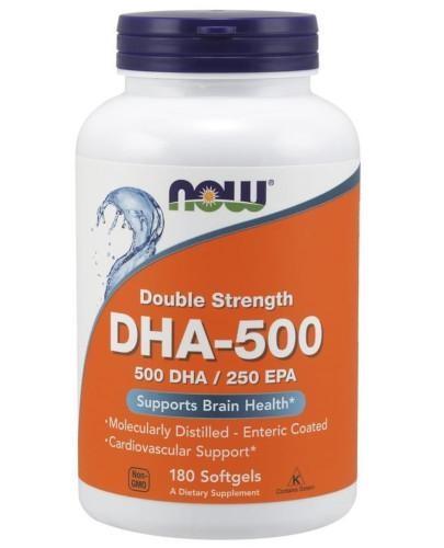 NOW Foods DHA 500 mg 180 kapsułek