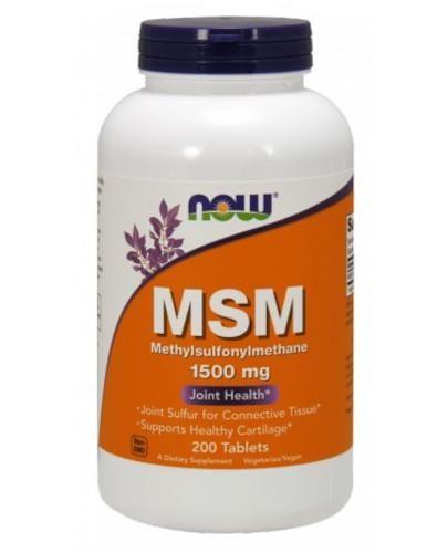 NOW Foods MSM 1500 mg 200 tabletek