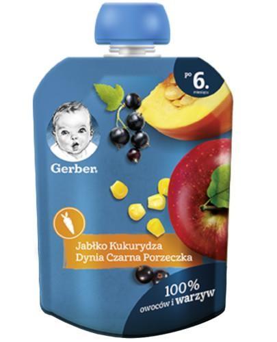 Nestlé Gerber deserek jabłko kukurydza dynia czarna porzeczka dla dzieci 6m+ 90 g