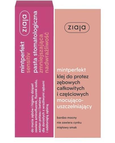 Ziaja miniperfekt pasta stomatologiczna zmniejszająca nadwrażliwość 75 ml + klej do pr...