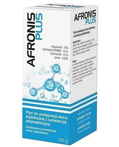 Afronis Plus płyn do pielęgnacji skóry trądzikowej z substancją antybakteryjną 100 g