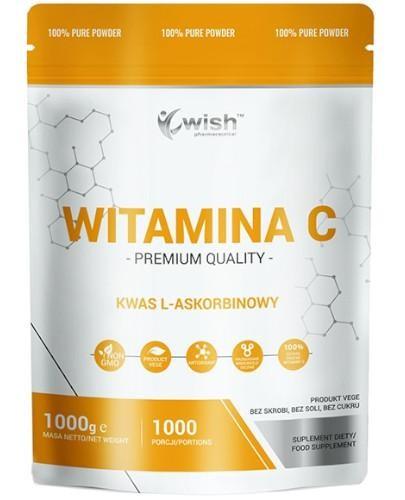 Wish Witamina C Kwas L-Askorbinowy proszek 1000 g  whited-out