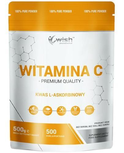 Wish Witamina C Kwas L-Askorbinowy proszek 500 g  whited-out