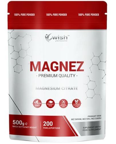 Wish Magnez (cytrynian magnezu) proszek 500 g