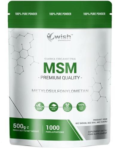 Wish MSM Siarka Organiczna proszek 500 g