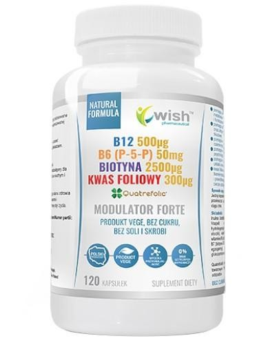 Wish Modulator Forte B12 + B6 (P-5-P) + Biotyna + Kwas Foliowy 120 kapsułek