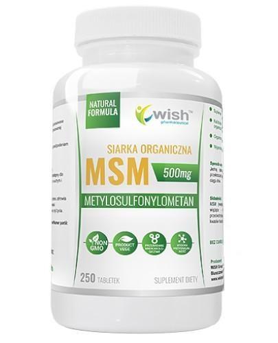 Wish MSM Siarka Organiczna 500 mg 250 tabletek