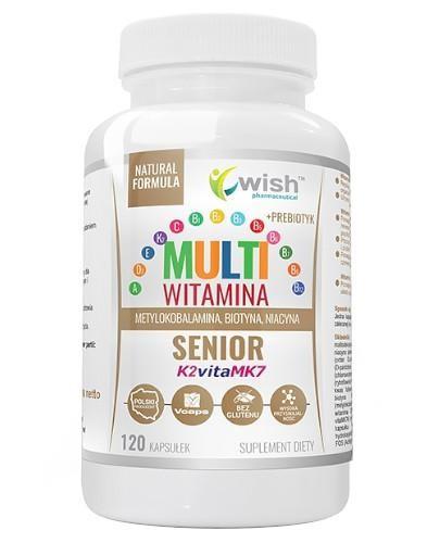 Wish Multiwitamina Complex Senior + Prebiotyk 120 kapsułek