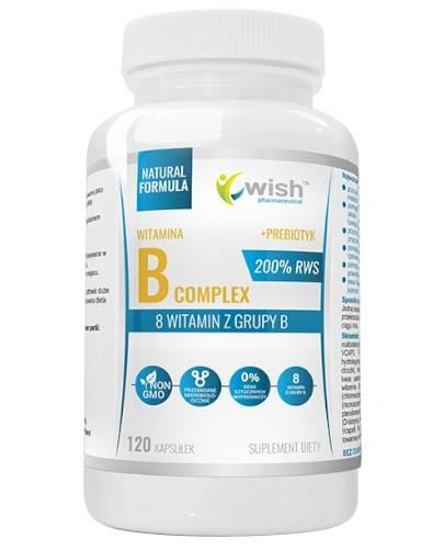 Wish Witamina B Complex 200% RWS + Prebiotyk 120 kapsułek