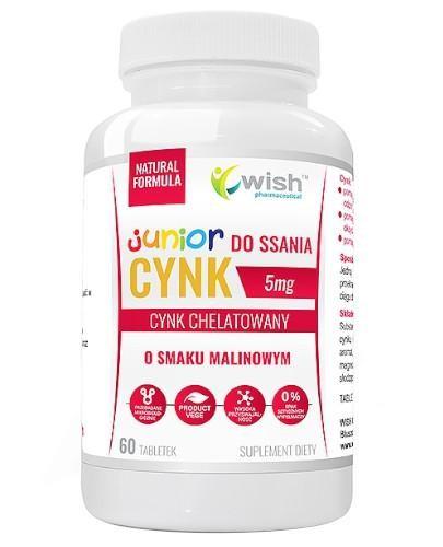 Wish Cynk Junior 5 mg 60 tabletek do ssania