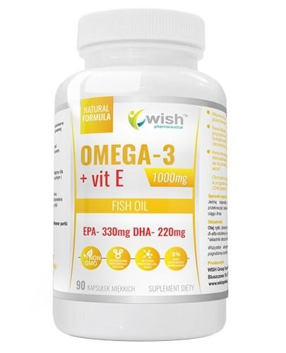 Wish Omega 3 1000 mg + Witamina E 90 kapsułek miękkich
