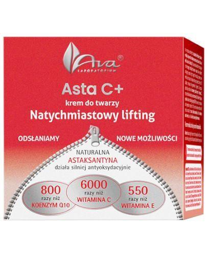 Ava Asta C + Natychmiastowy lifting krem do twarzy 50 ml