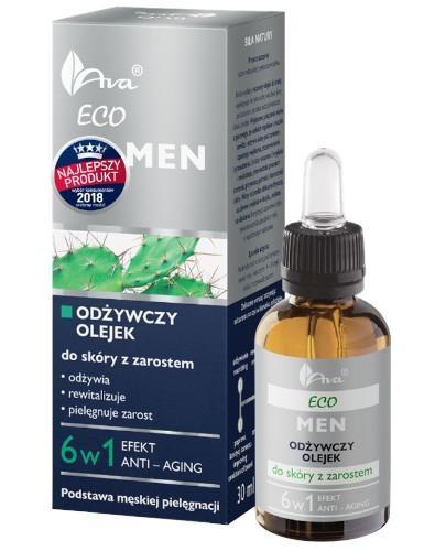 Ava Eco MEN odżywczy olejek do skóry z zarostem 6w1 50 ml