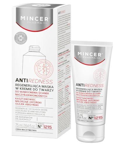 Mincer Pharma Antiredness N1215 regenerująca maska w kremie do twarzy 75 ml
