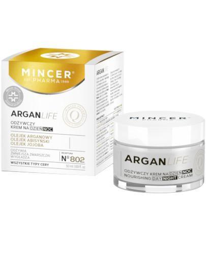 Mincer Pharma Argan Life N802 odżywczy krem na dzień i na noc 50 ml