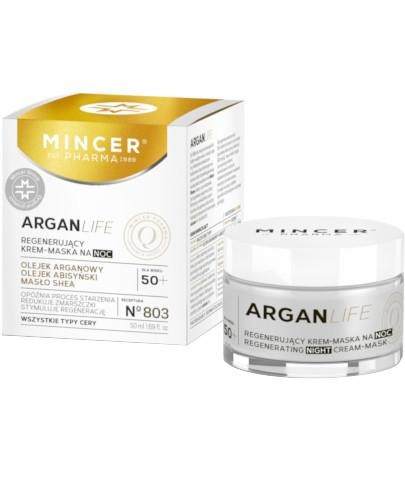 Mincer Pharma Argan Life N803 regenerujący krem-maska na noc 50 ml